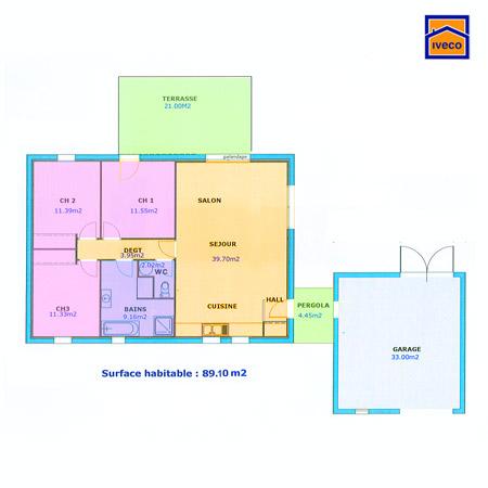 Plan maison mitoyenne plain pied trendy plan de maison - Plan maison de ville mitoyenne ...